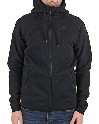 Nike Men's Tech Fleece Windrunner Hoodie Jacket, Black, Small
