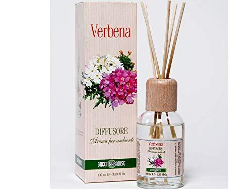 GREEN PARADISE PROFUMO PER AMBIENTI con bastoncini diffusori d'aroma - VERBENA - 100 ml