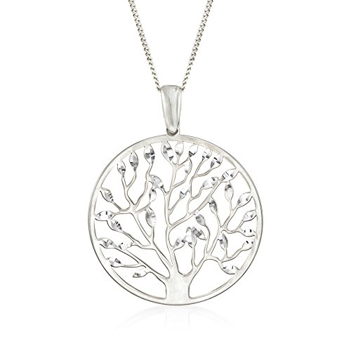 Ross-Simons Italian Sterling Silver Tree Of Life Pendant Necklace
