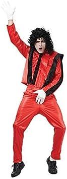 adulto hombre rojo pop SuperStar MICHAEL JACKSON Disfraz - talla ...