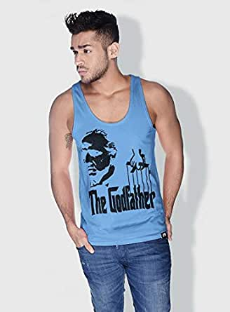 Creo The Godfather Movie Posters Tanks Tops For Men - S, Blue