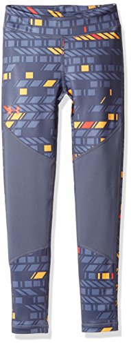 Coldgear Legging Girls (Under Armour Girls' ColdGear Novelty Leggings,Apollo Gray (962)/Marathon Red, Youth X-Large)