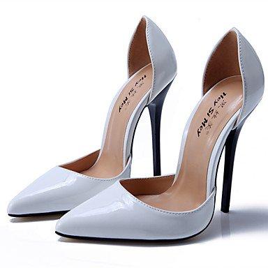 Moda donna sexy sandali Scarpe Donna 13cm Altezza tacco Sexy punta appuntita Stiletto di metallo pompe tacco Scarpe da parte di più colori disponibili White
