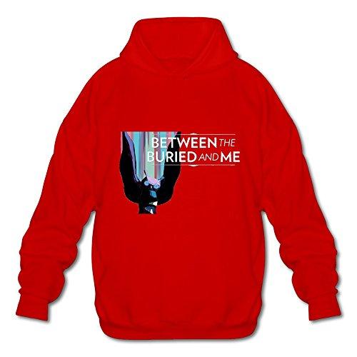 (Men's Between The Buried And Me Art Hoodies Sweatshirt Size S US Red)