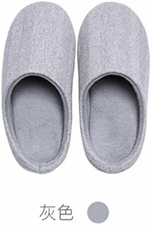 CWJDTXD Zapatillas de verano Muji simple wind twill simple interior casa hombres y mujeres suave fondo cómodo ligero cálido algodón zapatillas, código XL 275mm para 43-44, gris de los hombres: Amazon.es: Hogar