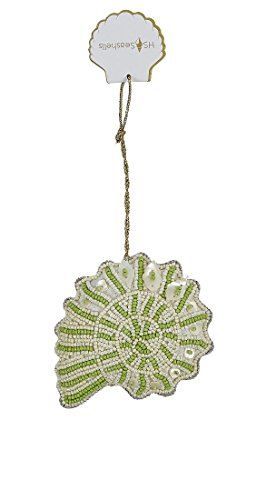 Nautilus Shell Beads (The Seashell Company Green Nautilus Mother of Pearl & Bead Ornament, Coastal Beach Home & Wedding Party Decoration)