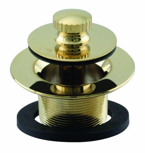 Westbrass D331-F-01 1-3/8-Inch NPSM Fine Thread Twist-and-Close Bath Drain Plug, Polished Brass by Westbrass