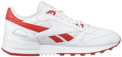 Reebok Heren Cl Leer 2,0 Fashion Sneaker Wit / Oer Rood