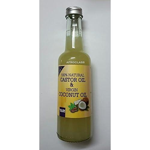 Huile de Ricin & Huile de Coco Vierge 2en1 100% naturelles (Castor oil & Coconut oil) 250ml