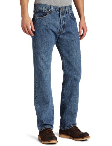 Levi's Men's 501 Original Fit Jean, Medium Stonewash, 35x32
