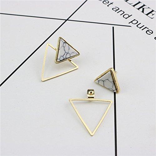 Oro Orecchini a Lobo triangolari in Stile Marmorizzato Cosanter Colore
