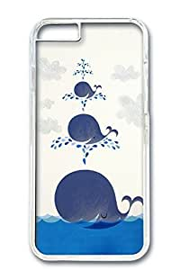 Custom Design Covers for iPhone 6 PC Transparent Case - Smiling Whales
