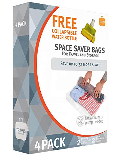 Travis Travel Gear Space Saver Bags. No Vacuum Rolling Compression