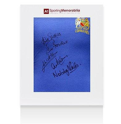 Manchester United 1968 European Cup Shirt Signed By 5 Players - Gift Box - Autographed Soccer Jerseys