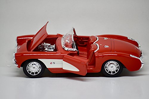 American M int - Premium Edition - 1957 Chevrolet Corvette - 1:24 Scale Die Cast - COA - Cars of there Rock 'n' Roll Era - -
