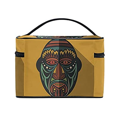 9f41320759b4 African Art Tribal Print Travel Makeup Toiletry Organizer Case ...