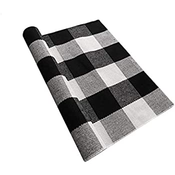 Amazon Com Ukeler Farmhouse Decor Rug Black And White