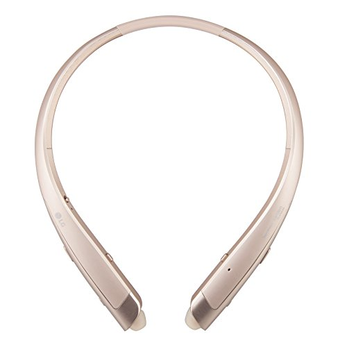 LG TONE Platinum HBS-1100 Bluetooth Wireless Stereo Headphones with Harman Kardon Sound- Gold (Renewed)