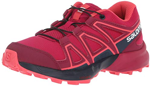 Salomon Kids Speedcross J, Trail Running Shoe, cerise / navy blazer / dubarry ,  Child 3