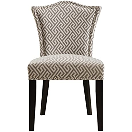 Pulaski Camel Back Upholstered Dining Chair In Maza Grey