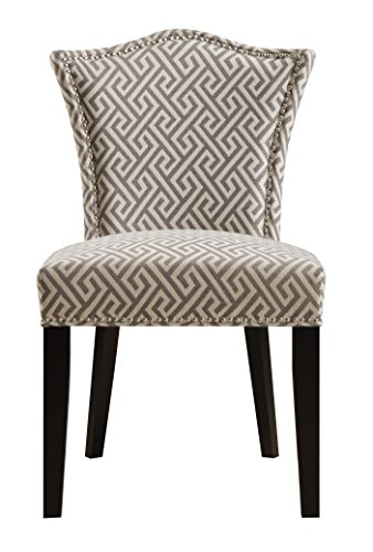 Pulaski Camel Back Upholstered Dining Chair in Maza Grey (Upholstered Pulaski Chair Furniture)