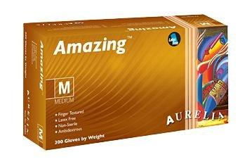 Amazing 92888 Nitrile Powder Free Examination Glove, Large, Blue (Pack of 300) Supermax