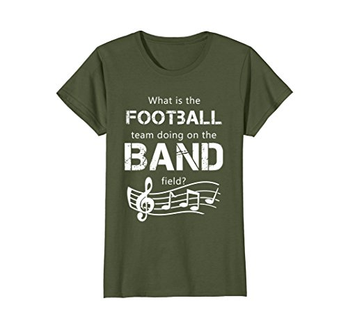 Womens Marching Band What's the Football Team Doing... T-Shirt Large ()