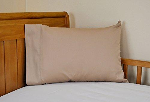 14x21 Toddler Pillowcase Child Size Travel Pillowcase 100% cotton Color: Camel