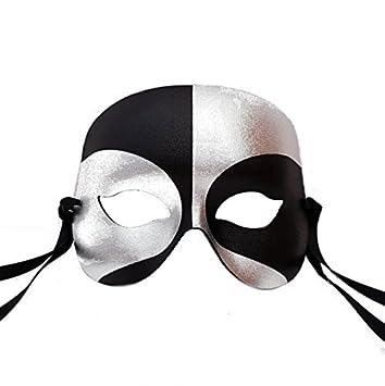 neue auswahl echt kaufen erstklassige Qualität Schwarz und Silber Roboter Männer Venezianische faschingsmasken Maskerade  maskenball maske herren - Erstklassige Qualität, in Italien gemacht