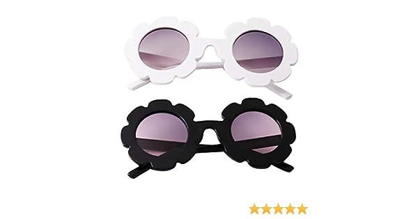 B Blesiya 2 Juego de Gafas de Sol Dise/ño Personalizado de Flor para Ni/ñas Estilo de Moda