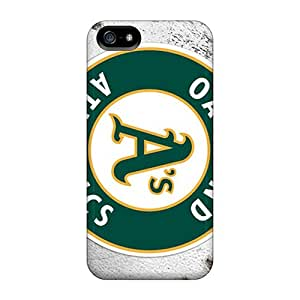 Shock-Absorbing Cell-phone Hard Covers For Iphone 5/5s With Provide Private Custom High-definition Oakland Athletics Pattern ChristopherWalsh