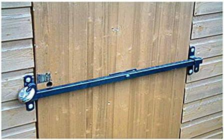 Cierre de seguridad para puerta de caseta de jardín que se adapta a anchos de puerta de 900 mm: Amazon.es: Jardín