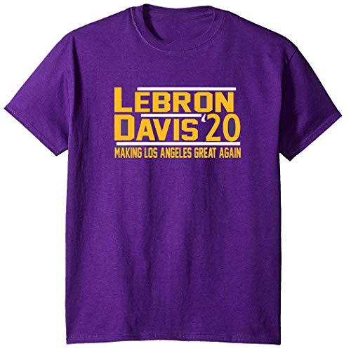 Purple Los Angeles Lebron Davis 2020 T-Shirt Youth