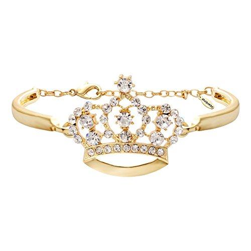 NOUMANDA Fashion Crystal Crown Bracelets Simple Jewelry for Women