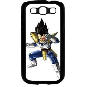 Dragon Ball Manga Comic Slim Vegeta Samsung Galaxy S3 SIII I9300 TPU Soft Black or White case (Black)