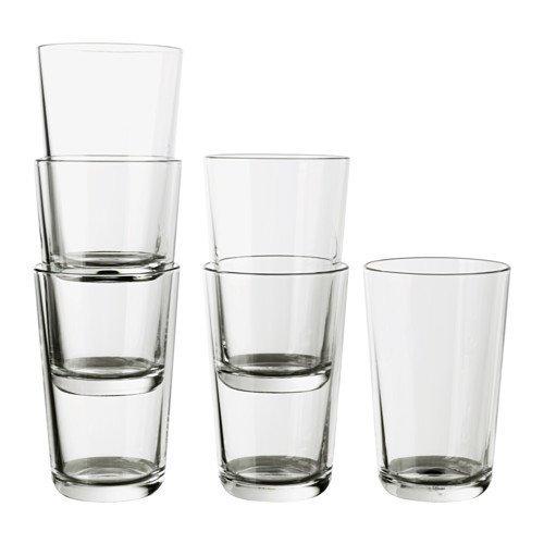 IKEA 365+ Glass, clear glass / 6-pack / IKEA 365 - 15 oz