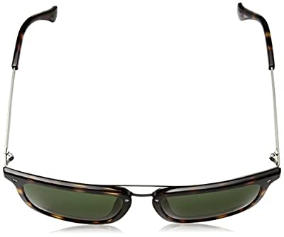 Calvin Klein Men's Ck1214s Flat Top Square Sunglasses, Tortoise, 54 mm