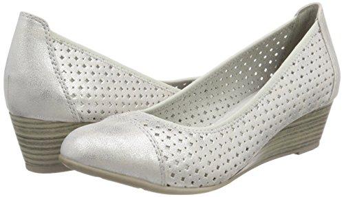 white Argent silver Escarpins 22365 Femme Softline qw06Pgx