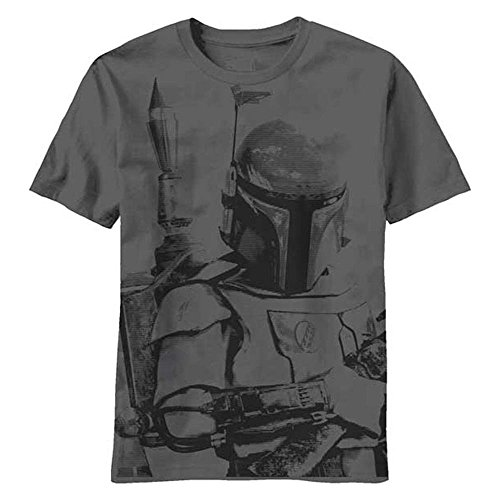 Star Wars Boba Fett Sarlacc Bait Charcoal T-Shirt, Large