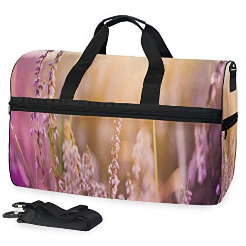 Gym Bag Easter Flower Bloom Sport Travel Duffel Bag with Shoes Compartment Large Capacity for Men/Women