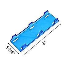 "SiriusLED Combo Off Road LED Fog Light Bar Cover Lens 6"" Inch Waterproof Hard Plastic Blue"