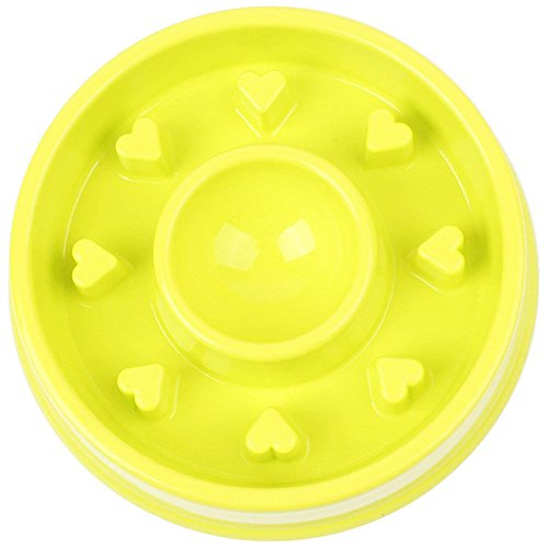 AISION Dog Feeder Slow Eating Pet Bowl Eco-Friendly Durable Non-Toxic Preventing Choking Healthy Design Bowl for Pet (Green, Round) from AISION