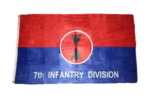 3x5 Army 7th Infantry Division Knitted Poly Flag 3x5 Grommets Fade Resistant BEST Garden Outdor Decor polyester material FLAG PREMIUM Vivid Color and UV Fade Resistant