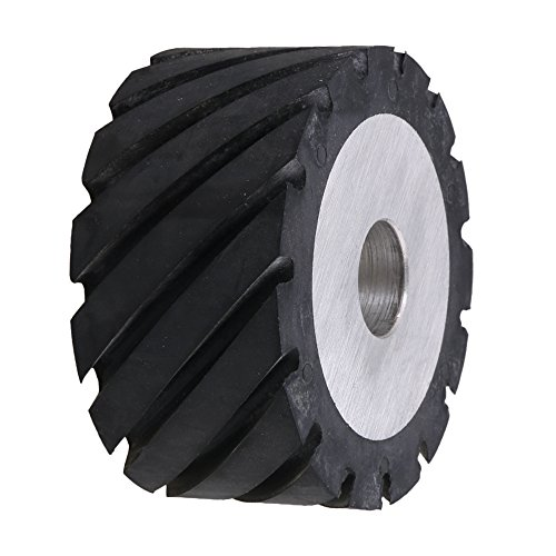 Mxfans 100 x 50mm Rubber Serrated Belt Grinder Wheel for Bearings Belt Grinder by Mxfans