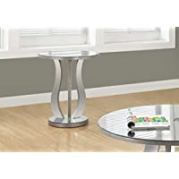 Monarch End Table, Brushed Silver, 20