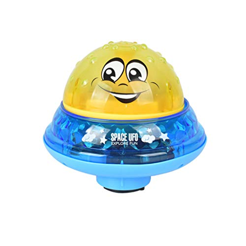 (CCFAMILY Baby Play Bath Toy Infant Children's Electric Induction Sprinkler Lamp Water Toy)