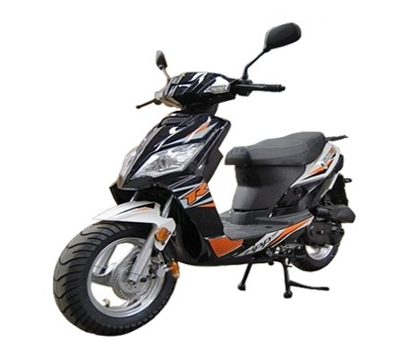 TAO SMART DEALSNOW brings Brand new Tao Tao Thunder 50 Gas Street Legal Scooter with Matching Trunk  - Sporty Black Color