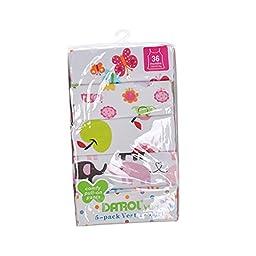 DRAROL Baby Girls\'5 Piece Flower Camisoles (36 Months)