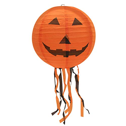 Halloween Paper Lantern,Lovewe New Halloween Paper Pumpkin Hanging Lantern,DIY Halloween Lantern Holiday Party Decor Scary (E)