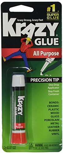 Krazy Glue KG585 Instant Krazy Glue All Purpose Tube 0.07-Ounce Size: pack of 1, Model: KG585 0.07 Ounce Tube